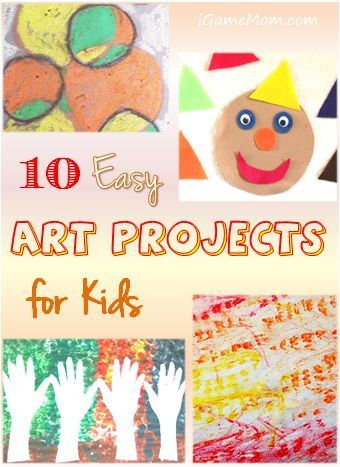 10 Easy Art Projects for Kids - even young children can do these.
