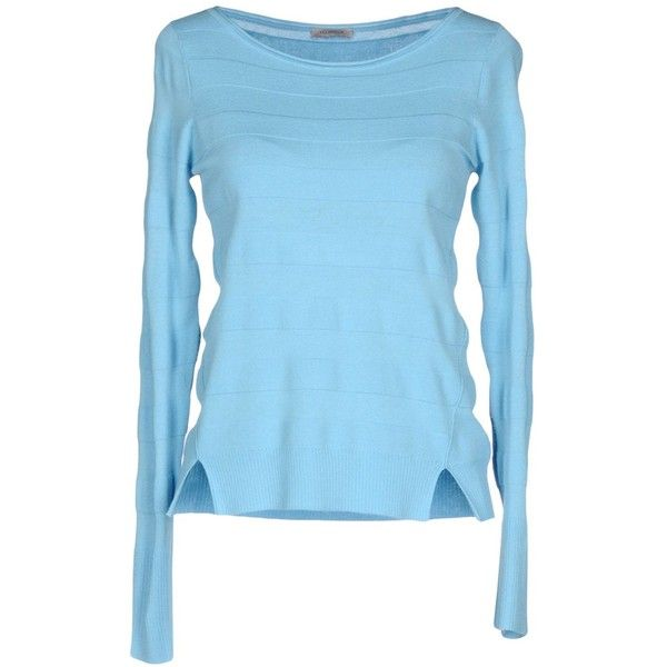 Marella Jumper (7,210 INR) ❤ liked on Polyvore featuring tops, sweaters, turquoise, blue jumper, marella, long sleeve jumper, blue top and jumpers sweaters