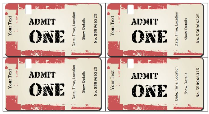 Concert Ticket Template Word Fake Ticket Template Free Liability