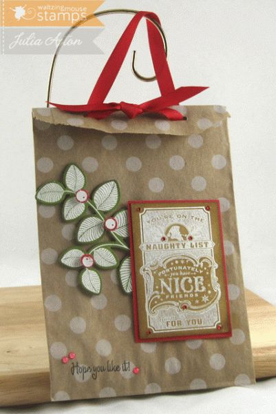 Naughty list gift bag cards tags pinterest