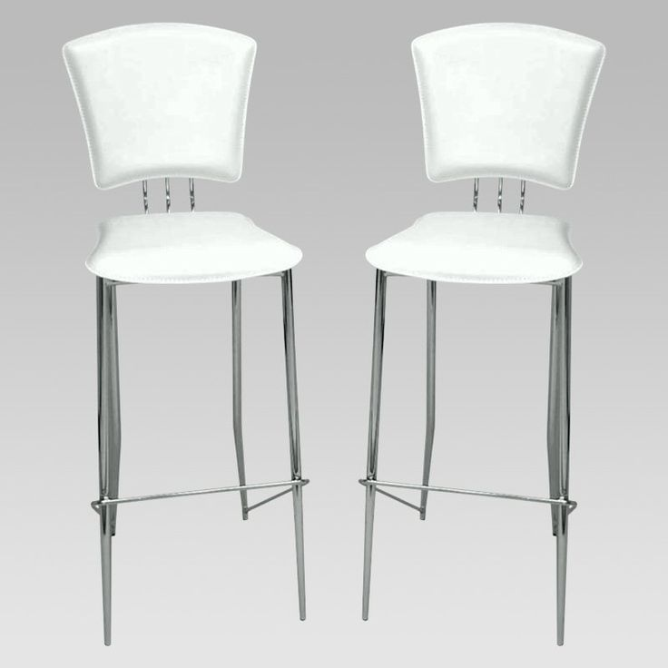 Chintaly Tracy 30 In Bar Stools White Set Of 2 Www