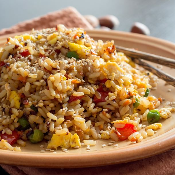 Riz sauté aux légumes et soja