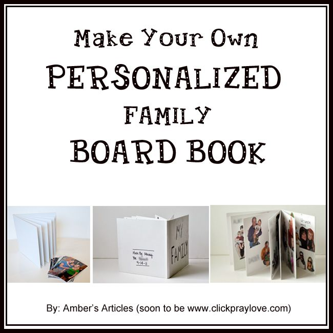 Pre Toddler Activity Make Your Own Personalized Board Book