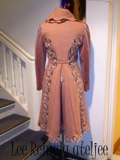 Cocoa Cream Rose by Lee Reinula 2014 Knitted coat, embroidery