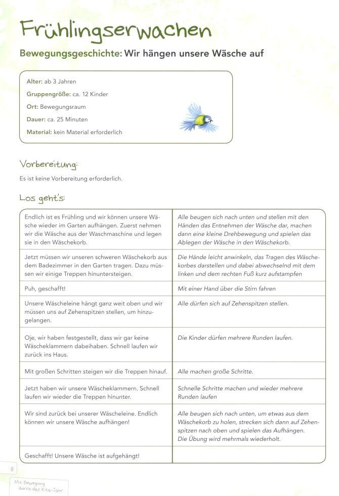 Blick Ins Buch Fruhling Im Kindergarten Bewegungsgeschichte