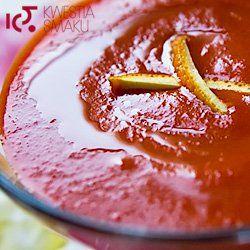 Zupa krem z papryki i pomarańczy