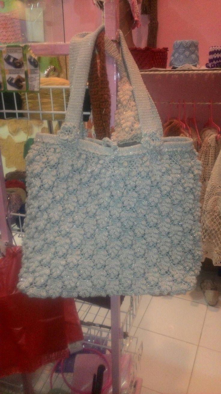 Silver grape motif bag