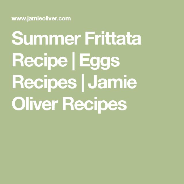 Summer Frittata Recipe | Eggs Recipes | Jamie Oliver Recipes