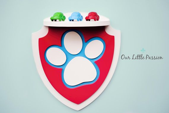 Paw Patrol Sign Shelf Shelf For Baby Nursery Kids Room Wall