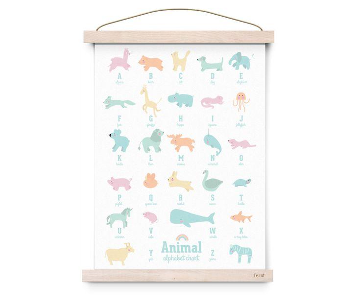Animal Alphabet pastel 50x70cm