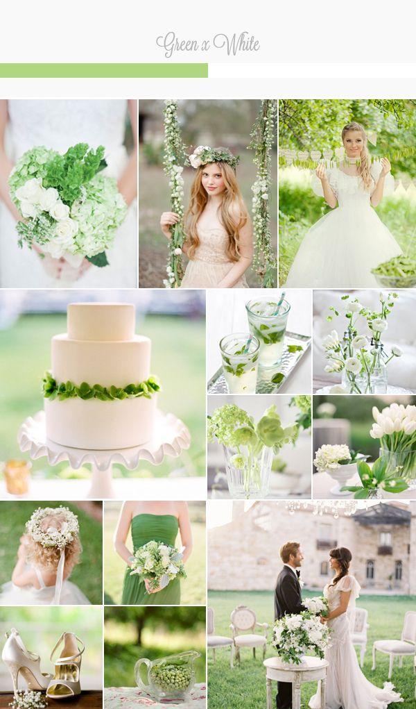 Green x White Wedding Palette