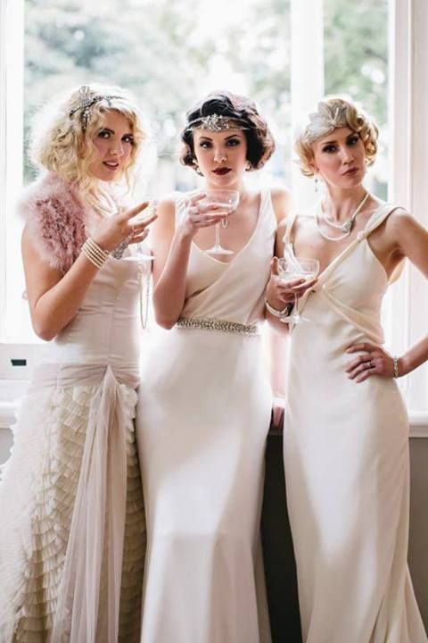The Great Gatsby, Inspiration 1920S, 1920S Fashion, Gatsby Parties, 1920S Wedding Bridesmaid, Gatsby Inspiration, long white dress, 1920S Inspiration Fashion
