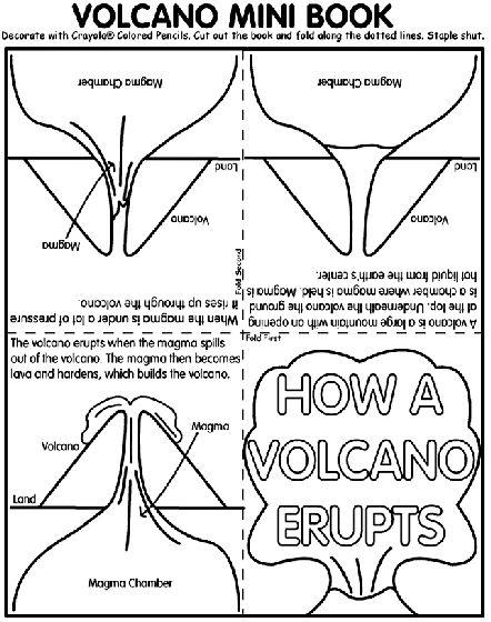 FREE Volcano Mini Book for Upper Elementary www.homeschoolgiveaways.com Download this free mini book about  volcanoes for the volcano-lover in your homeschool!