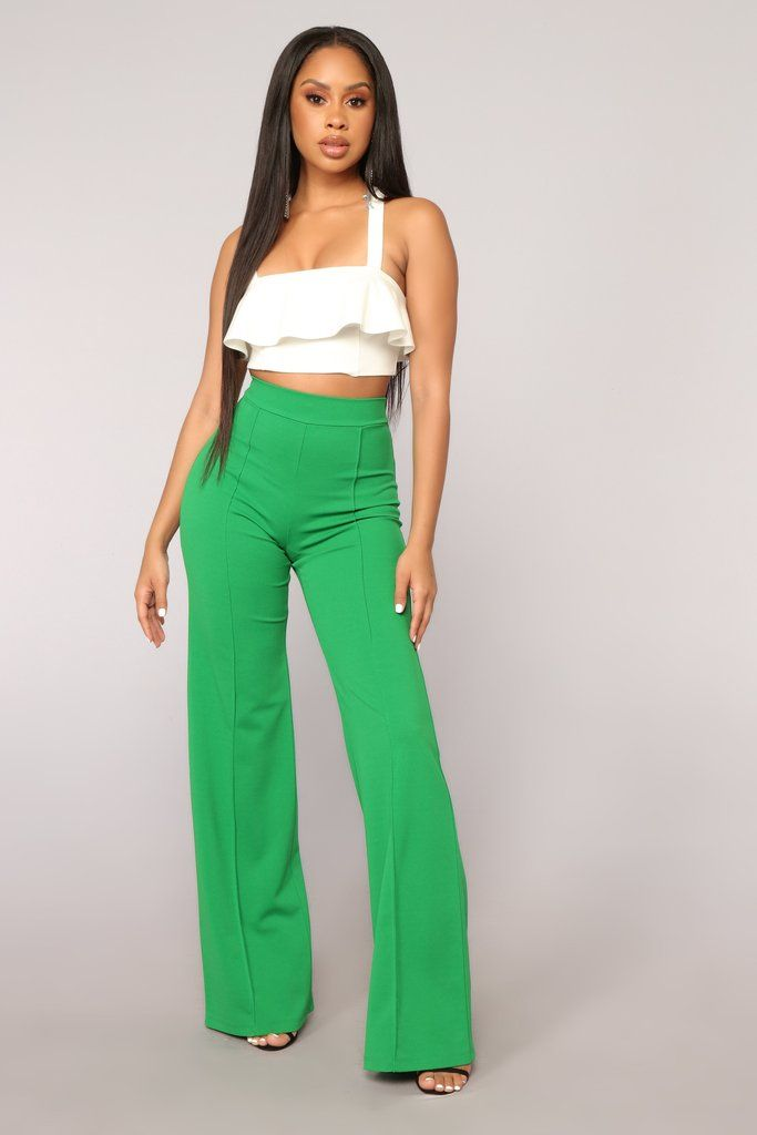 8bcd43f877ed Victoria High Waisted Dress Pants - Kelly Green in 2019 | Fashion ...