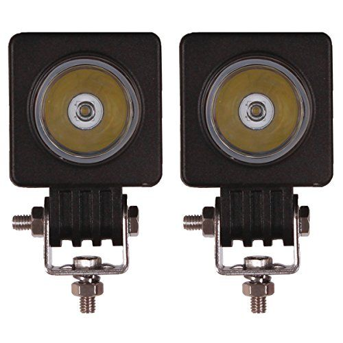 Senzeal 2x 2″ 10W 1000LM High Power Cree LED Work Light 12V Square LED Spot Beam Motorcycle Fog Lights LED Offroad Light Bar For Trucks 4×4 4WD Tractor. |  http://ledlightingdistribution.com