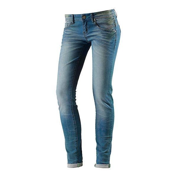 One Green Elephant Slim Fit Jeans zum Krempeln mit stylishen Destroyed- und Washed-Effekten.