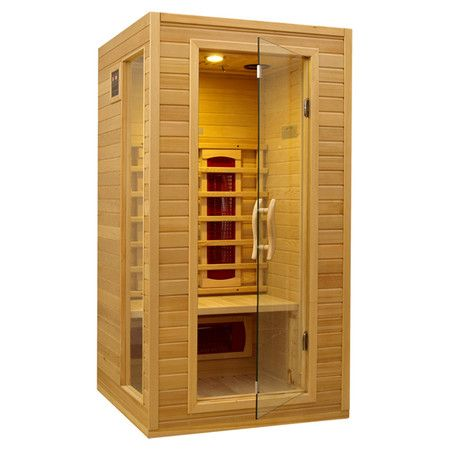 Perfect for indulging in a warm steam, this 2 person sauna is crafted of reforested Canadian hemlock wood. Featuring an infrared heating system and interior ...