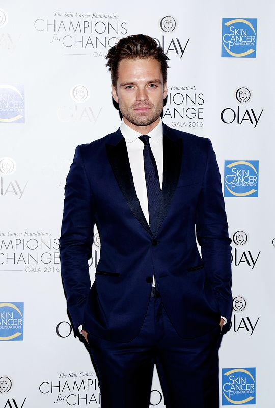 Sebastian Stan attends The Skin Cancer Foundation's Champions for Change Gala in New York City on October 18, 2016