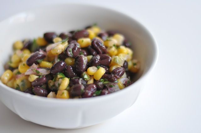 Black Bean Salad - low fat, vegetarian: Eating Salad, Black Beans Corn, Cilantro Limes, Salad Recipes, Corn Salad, Black Beans Salad, Limes Black, Recipes Salads, Black Bean Salads