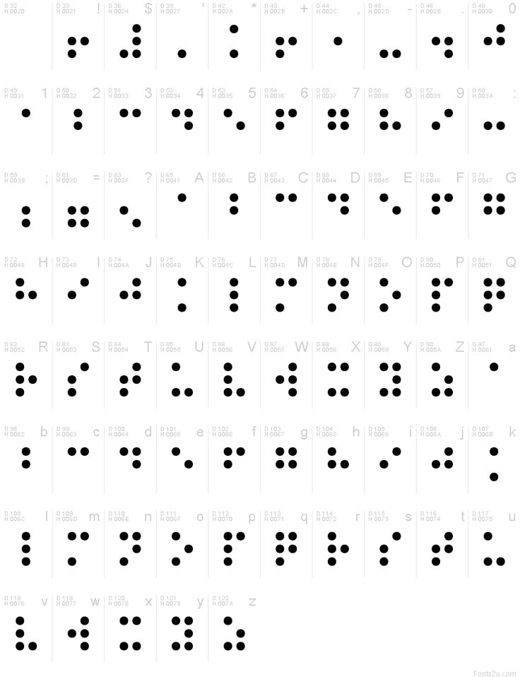 Braille Normal font