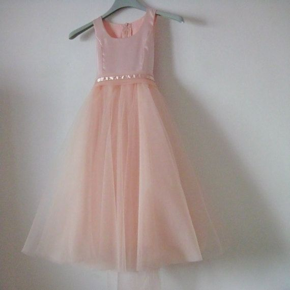 Peach pink Princess Dress for Little Girls 3-5 years by AgloDress