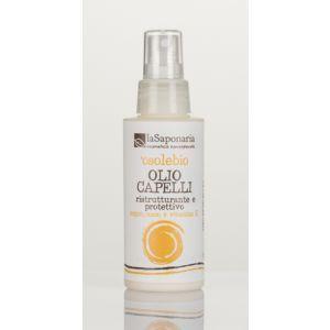 Włosy zdrowe, lśniące i naturalnie chronione!  Naturalny olejek ochronny O Sole BIO o wyjątkowo lekkim składzie na bazie organicznych olejów arganowym, kokosowym, macadamia i czystej witaminie E, które gwarantują optymalne odżywienie oraz chronią naturalne piękno włosów.  Może być stosowany w celu zapobiegania suchości i łamliwości włosa podczas ekspozycji na słońce lub jako maska odbudowująca. Przywraca włosom połysk i blask po opalaniu się, po kąpielach w morzu lub na basenie.