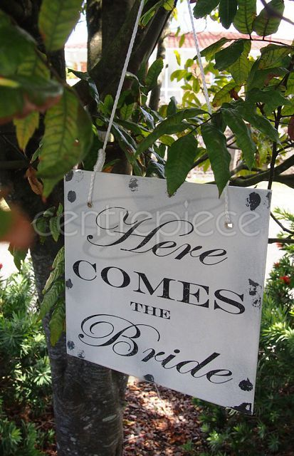 Sign Hanging Shabby Chic Reversible