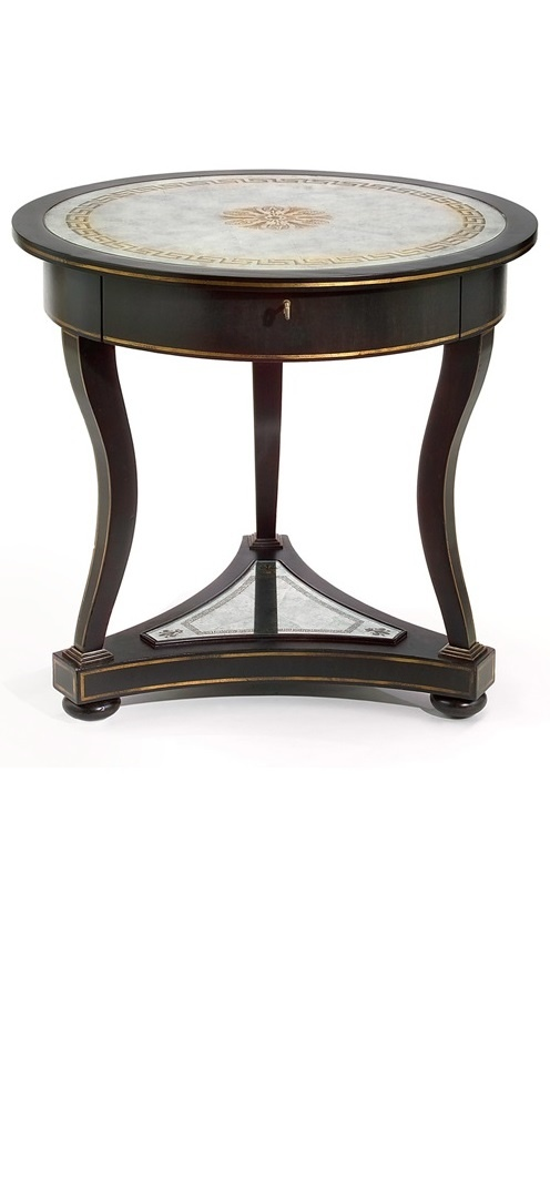 Side Tables, End Tables, Accent Tables, Classic Eglomise (Gilded) Table, so elegant, one of over ...