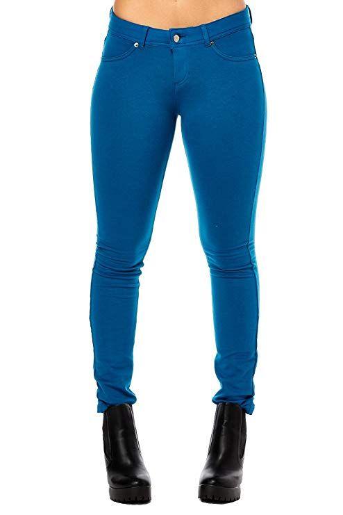 8be153562b8c3 La Bijou Womens LABIJOU French Terry Basic Jegging Skinny Pants 511S ...