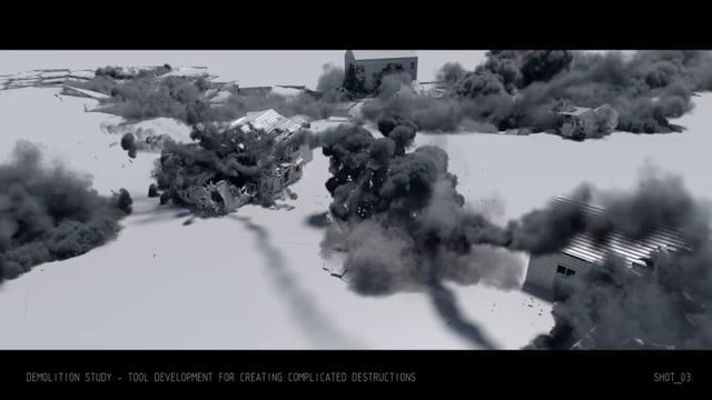 Here is some of the research & development work I've performed during past year. All done in Houdini. This work included development of wide range of tools for volume shaping and rendering, smoke simulations, liquid simulations and rigid body dynamics.  I also added several shots from my previous reel.  Breakdown:  Shot_01 - R&D - Tools for shaping and rendering clouds During this R&D work I've developed a number of SOP/CVEX modifiers and shaders for creating clouds in Houdini. Much a...
