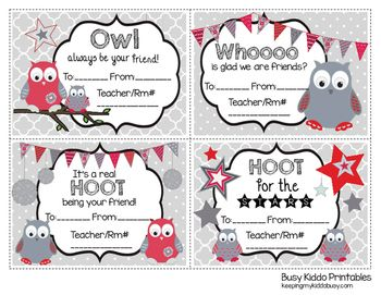 Printable CANDY GRAMS - Use for Valentine's Day or any school fundraiser!