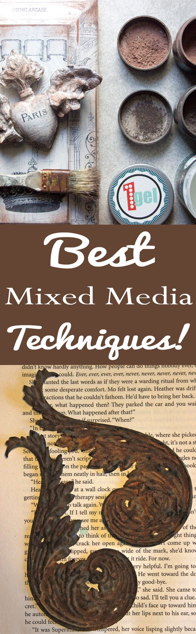 Best Mixed Media Art Techniques!  Heather Tracy for The Graphics Fairy