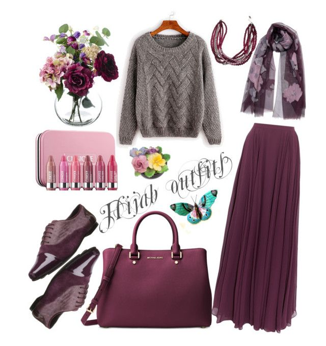 Hijab outfits by mennah-ibrahim on Polyvore featuring polyvore fashion style Halston Heritage Gentle Souls Michael Kors Clinique Coalport clothing