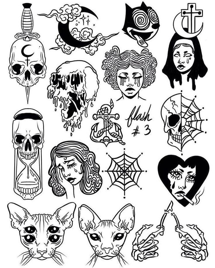 """Instagram (Tattoo Sketches): """"@moonlitequeentatts. . . . #tatt …   – Zeichnen (Not everything)"""