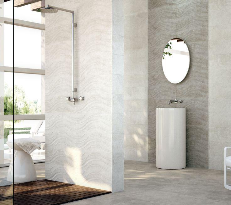 La decoración con cerámica, un nuevo estilo para tus paredes y suelos. La cerámica también se modula en su superficie.Serie 2208 de PORCELANITE DOS
