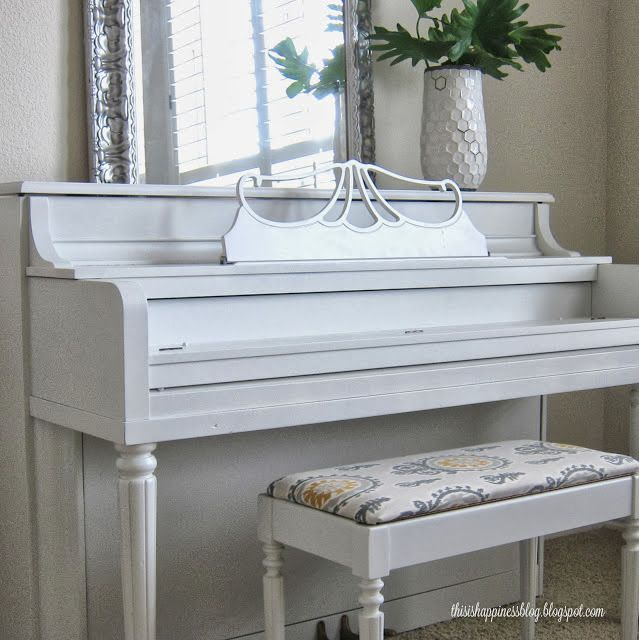 how to paint and reupholster an old piano