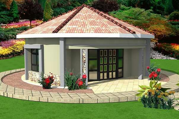 Pin by fundiswa sayo on rondavels pinterest for Modern rondavel house plans