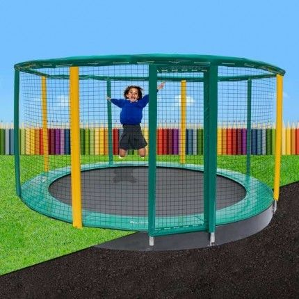 13.5ft Capital Schools In-Ground Trampoline   Capital Play
