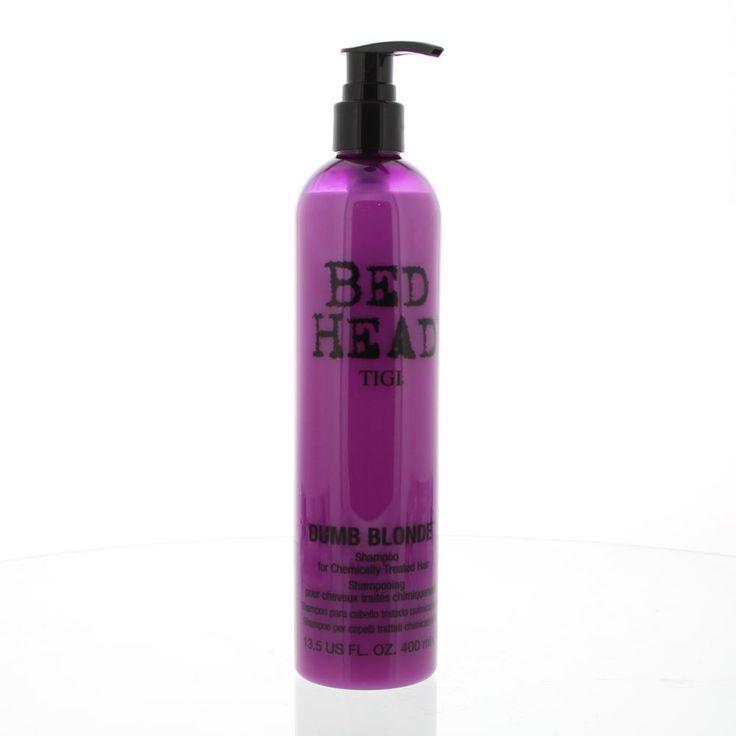 Tigi Bed Head Dumb Blonde Shampoo Chemisch Behandeld Haar 400ml  Description: Tigi Bed Head Dumb Blonde Shampoo voor blond geverfd haar! Verzorgt beschermt en versterkt uw chemisch behandeld haar. De shampoo bevat proteïne keratine en is pH neutraal. Gebruiksaanwijzing: aanbrengen op nat haar inmasseren en uitspoelen. Dagelijks gebruiken voor ultieme bescherming en verzorging van uw haar.  Price: 10.41  Meer informatie