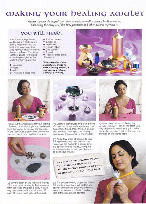 Making your Healing Amulet... Many Magicks... ☽✪☾