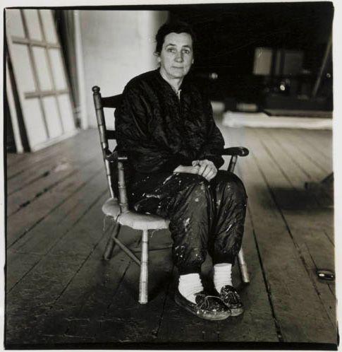 Agnes Martin, photo by Diane Arbus, 1966