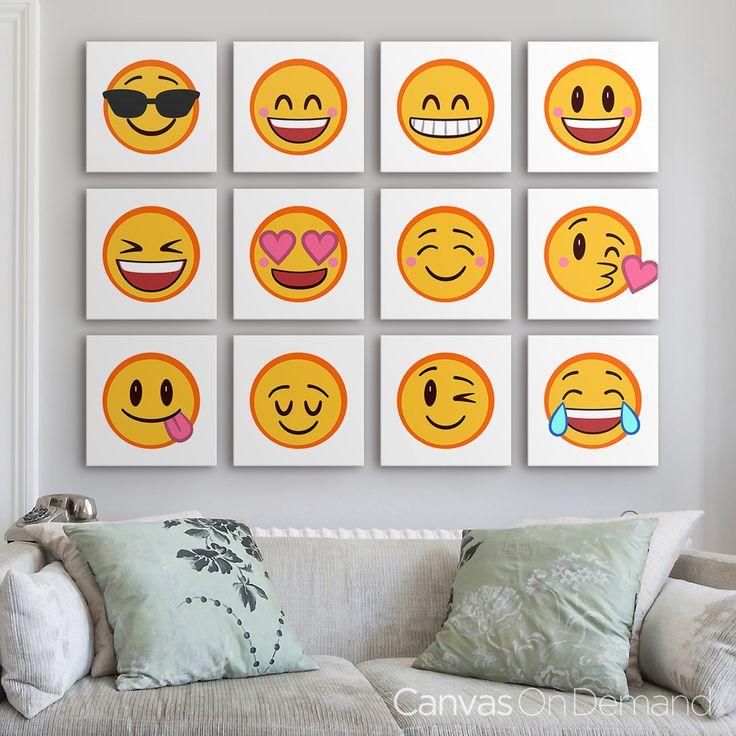 Emojis 25 pinterest lol for Emoji bedroom ideas