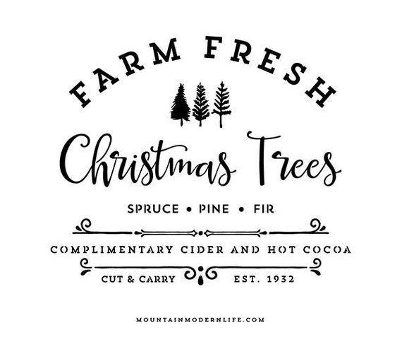 Farm Fresh Christmas Trees Svg.Farm Fresh Christmas Trees Svg File Signs Fresh