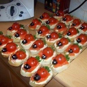 "Sandwiches ""Ladybugs"". Recipes with photos."