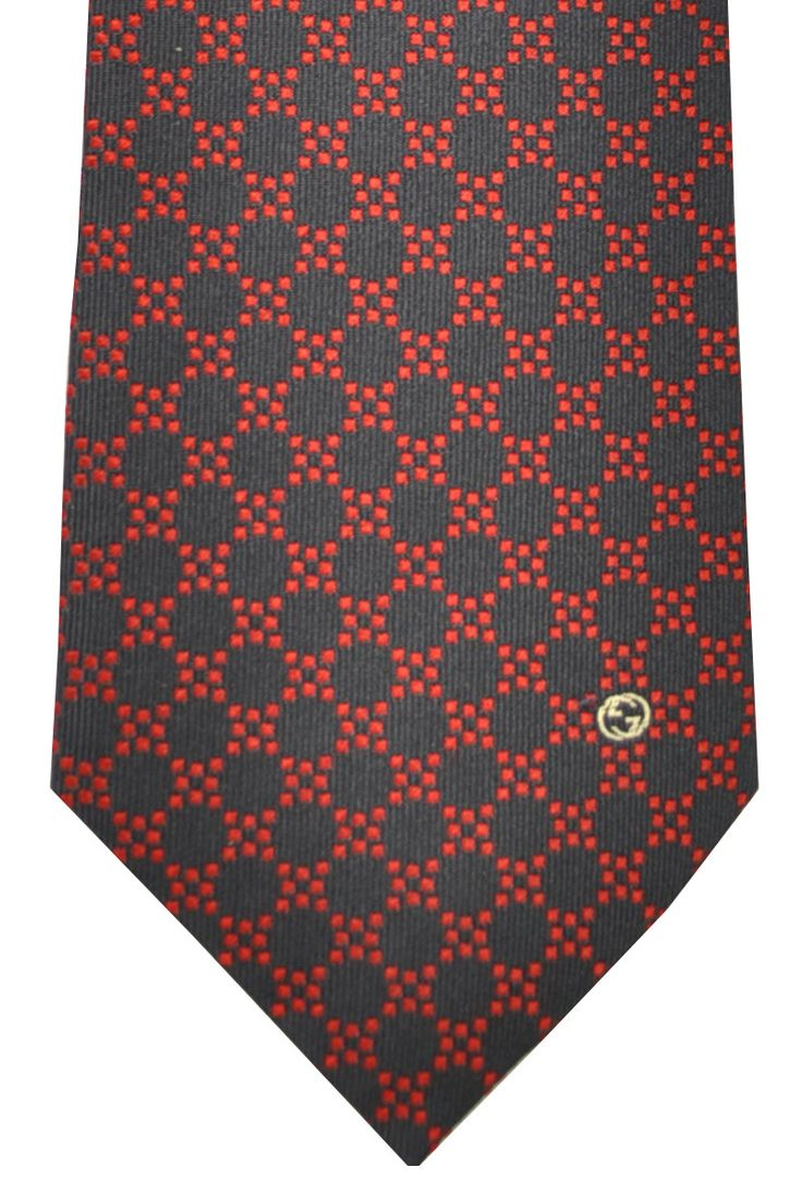 Navy red Gucci designer tie, winner. conservative, classic Gucci design, last one at 25% off retail.