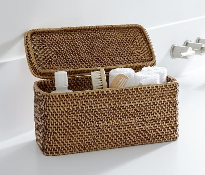27 Ridiculously Clever Storage Ideas For Your Bathroom Crate Barrel Wicker Bath Accessories