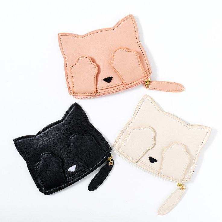 Pooh-chan, the mascot of the I♡Pooh brand, is so adorably sleepy even trying to play peek-a-boo with her own paws is unlikely to wake her up but it's still fun to try! These cute pouches are available in black, ivory, or pink and each have a cute design of Pooh-chan's face embroidered on the front with her paws over her eyes. The pouch has a long zipper across the top over a pocket which is perfec...