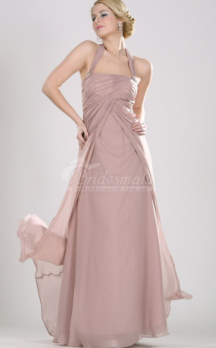 26 best pink bridesmaid dresses images on pinterest bridal gown country blushing pink chiffon halter long bridesmiad dresspink bridesmaid dresses ombrellifo Choice Image