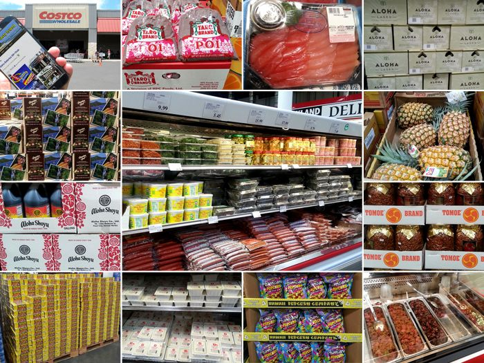 Oahu Costco selections... will have to get a gallon of POG for sure... but no SPAM