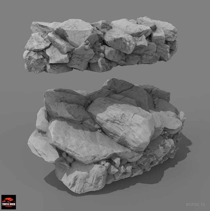This is a sampling of the many hi-res rocks I sculpted as a remote contractor…